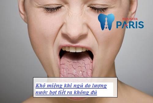 Khô miệng khi ngủ - Nguyên nhân & Cách điều trị DỨT ĐIỂM 2
