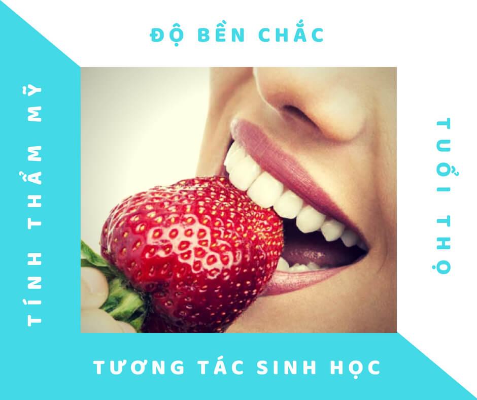 Bọc răng sứ titan - Ưu điểm của răng sứ Titan